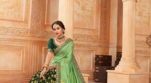 Sangeet-Vol-3-By-Kalista-Heavy-Look-Fancy-Wedding-Wear-Designer-Half-Half-Pattern-Saree-6